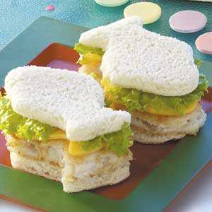 Fish Shaped Fillet Sandwiches